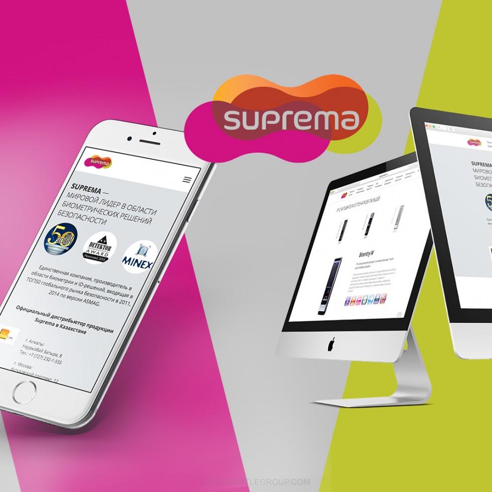 Разработка адаптивного сайта Suprema